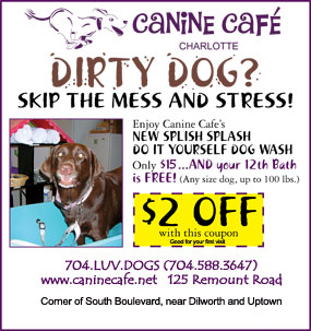 Do it yourself dog spa canine cafe charlotte skip the mess and stress come give canine cafs splish splash do it yourself dog wash a try solutioingenieria Images